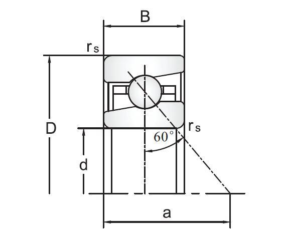 76020 Series Ball Screw Support Angular Contact Ball Bearings