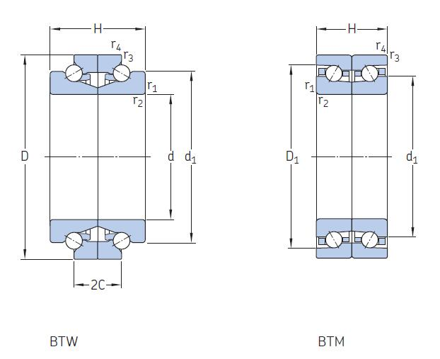 BTW BTM high-speed angular contact thrust ball bearings