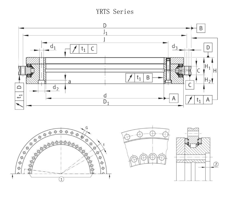 YRTS Rotary Table Bearing