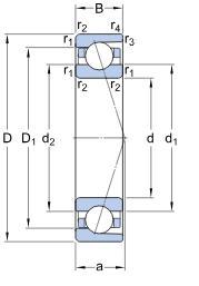 707CHQ1P4GA angular contact ball bearing