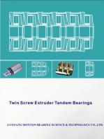 Tandem Thrust bearings